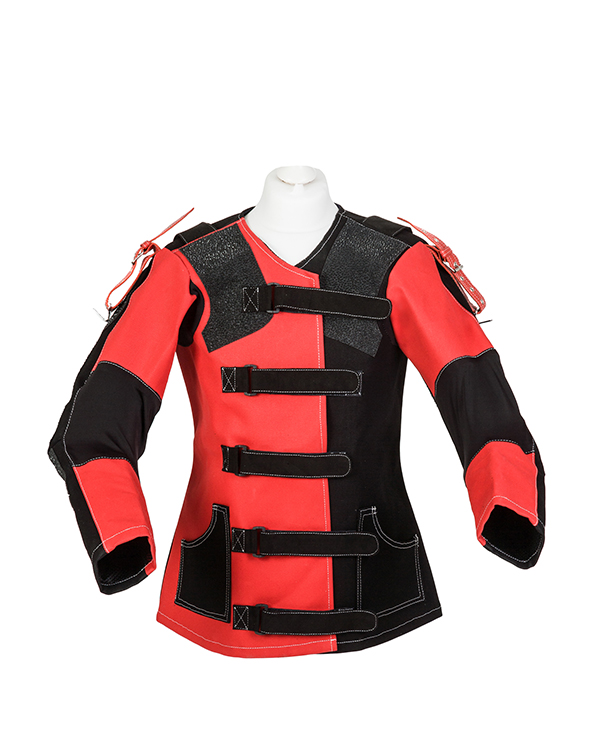 Centaur Target Sports Club 17 ambidextrous adjustable canvas target shooting jacket - Front view
