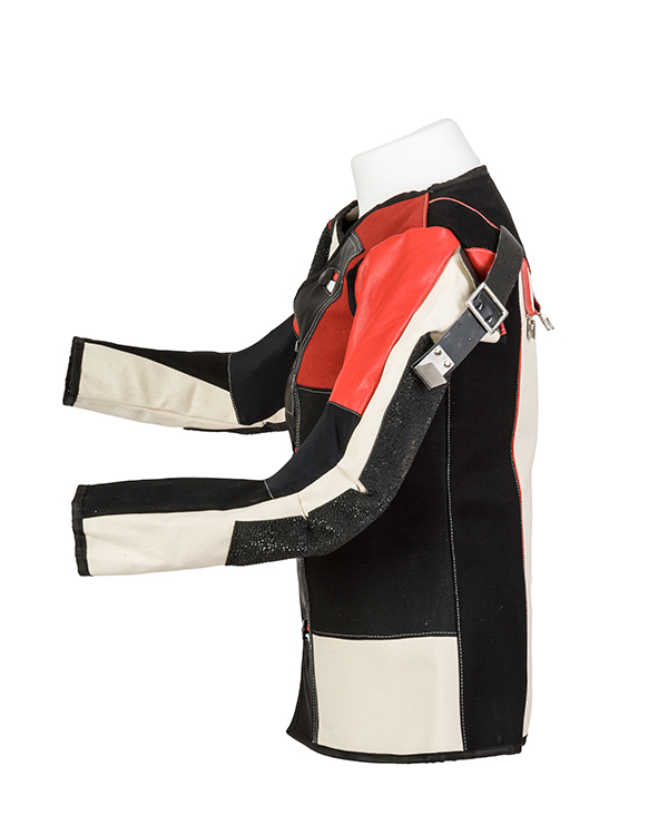 Centaur Match 16 Double Canvas and Leather Target Shooting Jacket - Left side view
