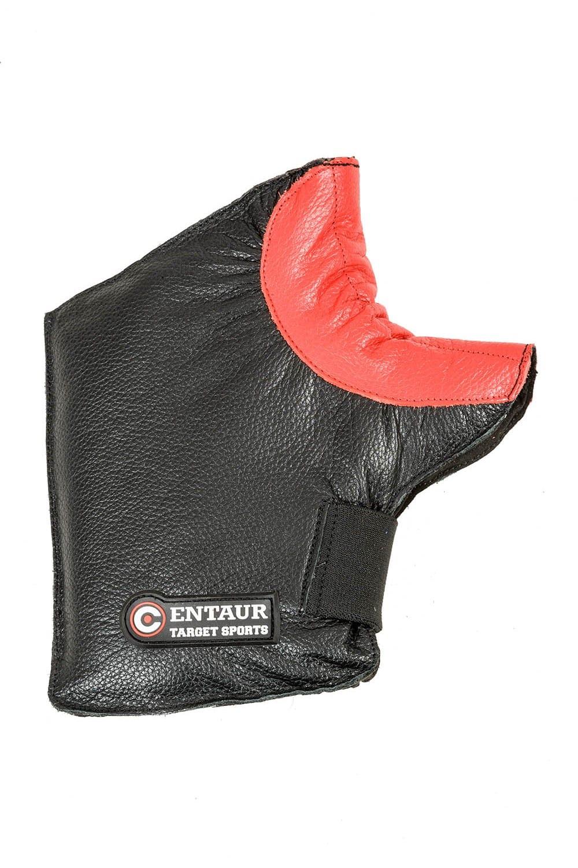 Centaur ambidextrous padded target shooting mitt - back view - high resolution