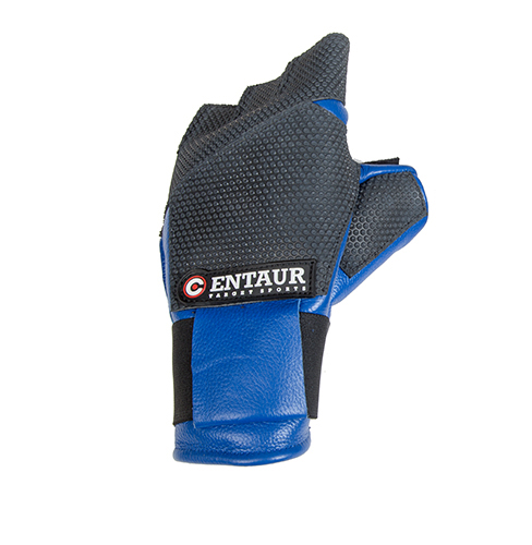 Centaur Expert fingerless ISSF compliant target shooting glove - back view - low resolution