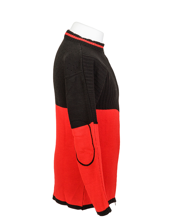 Elastic rib stitch padded target shooting cardigan by Centaur Target Sports - Right side view