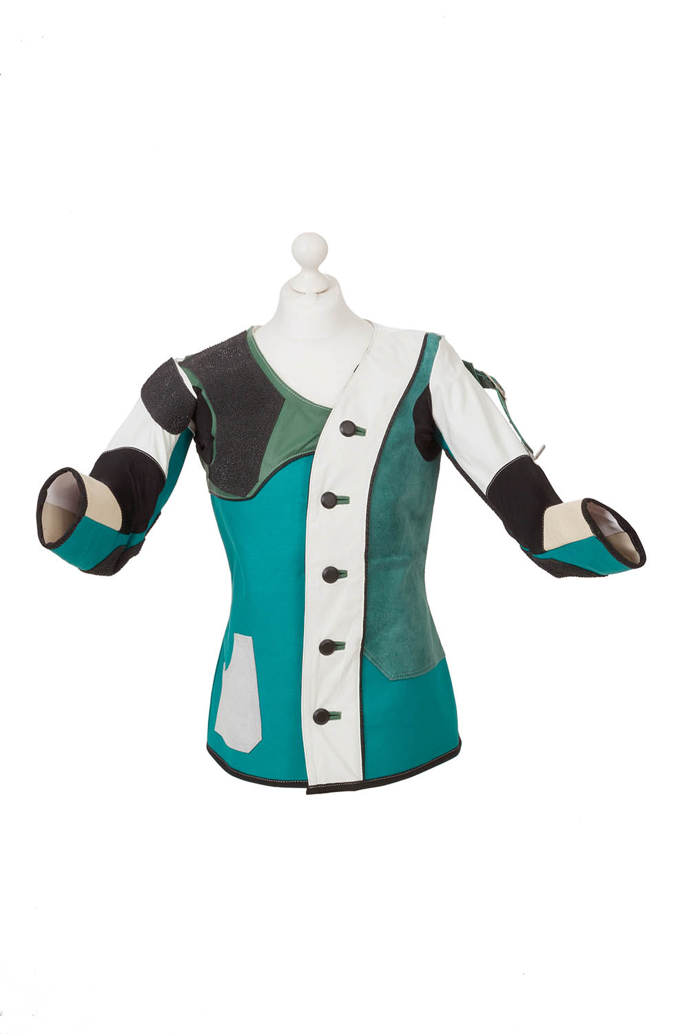Centaur Match 19 Double Canvas and Leather Target Shooting Jacket - Front view