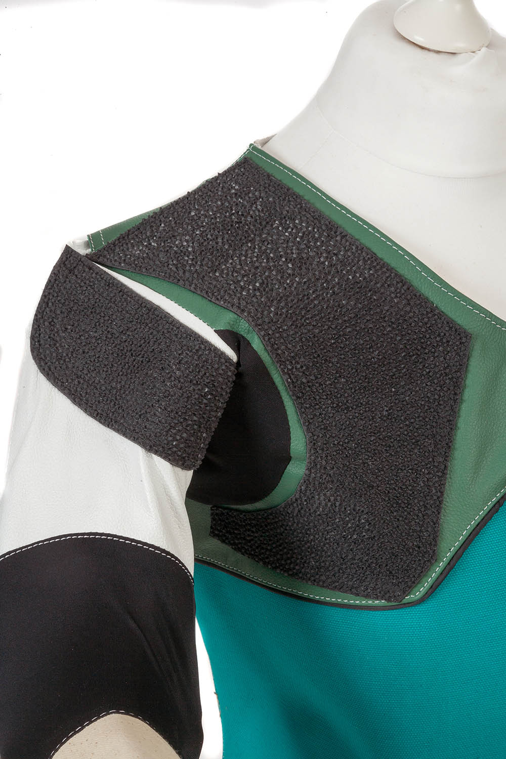 Non-slip rubber shoulder pad - Centaur Match 19 Double Canvas and Leather Target Shooting Jacket