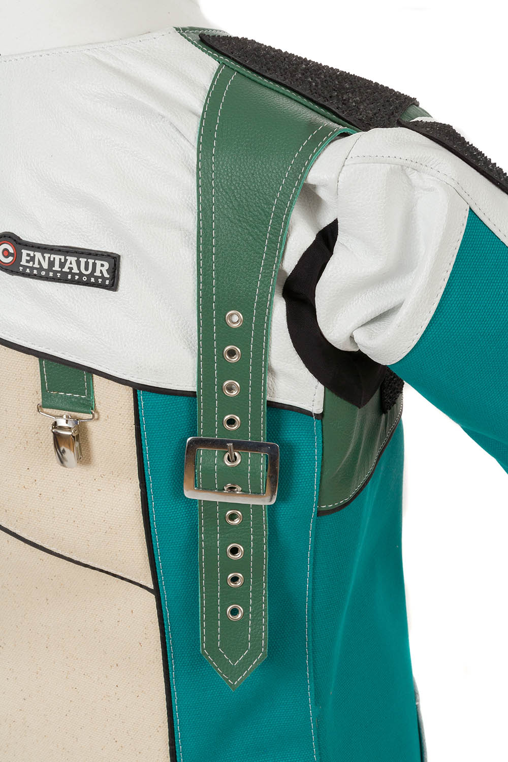 Leather shoulder strap - Centaur Match 19 Double Canvas and Leather Target Shooting Jacket
